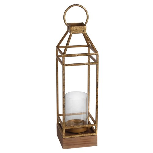 Brayden Studio Metal/Glass Lantern