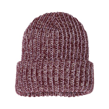 Couver - Vivid Women Men Bulky Hat Cozy Winter Chunky Beanie Cap - (Maroon   Natural) - Walmart.com 804b7b34cda