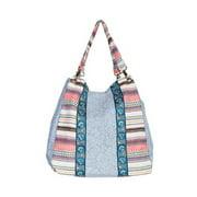 Scully C39-BLU-ONE Paneled Front Handbag, Blue