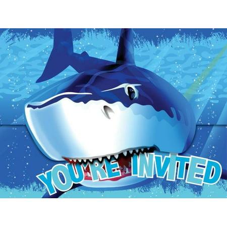 Access Shark Splash Invitation Card, 8 Ct