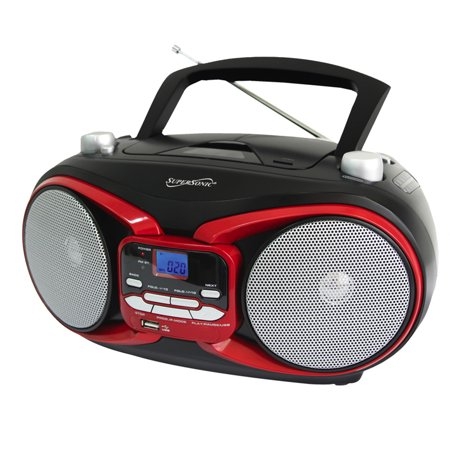 Supersonic Portable Mp3/Cd Player With Usb/Aux Input & Am/Fm Radio