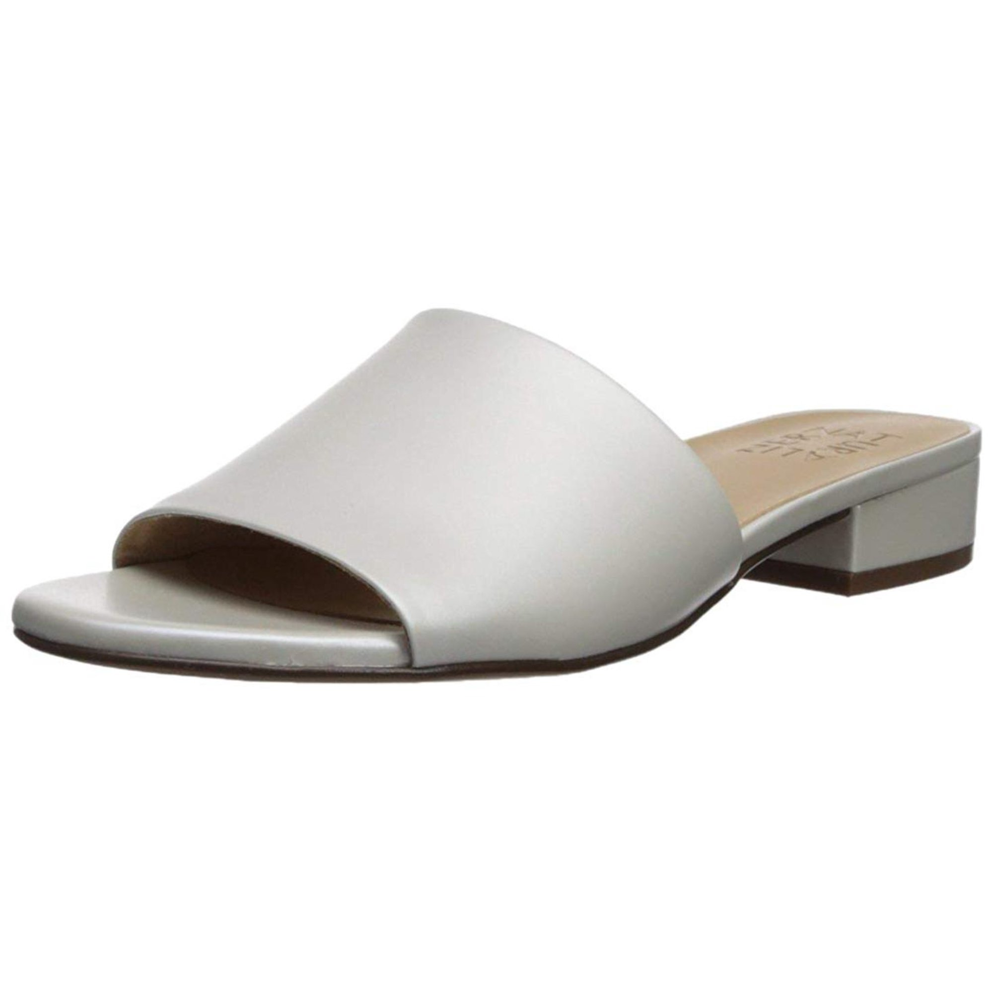 98f86a13b7ec Naturalizer Womens Mason Leather Open Toe Casual Slide Sandals ...