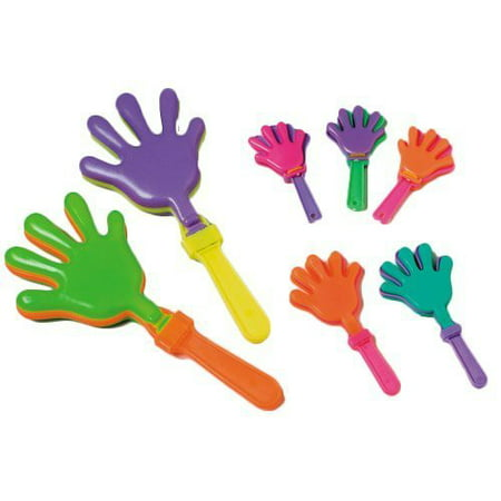 ~ 12 ~ Hand Clappers Noisemakers Favors ~ 7.5