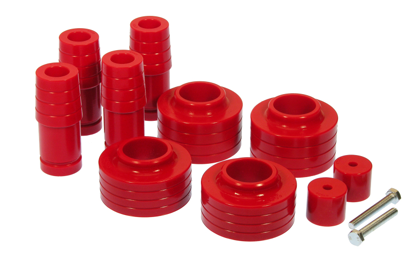 Prothane 1-1702 Red 1 and 1.5 Lift Coil Spring Isolator Kit for TJ Pair
