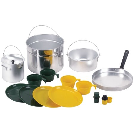 Deluxe 16 piece Four Party Aluminum Cook Set, Cooking on the trail for 4 campers just Got easier By Stansport