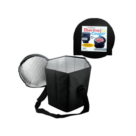 Folding Thermal Cooler with Shoulder Strap (Case of 6 ) ()