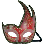 Red and Gold Symphony Mask Adult Halloween Accessory