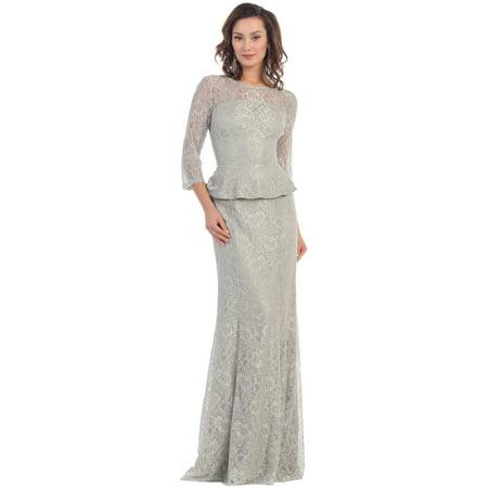 d261cdf9842 May Queen - 3 4 SLEEVE MOTHER OF THE BRIDE DRESS - Walmart.com