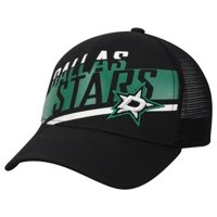 Adidas NHL Hockey Dallas Stars Trucker Cap Hat Laser Cut Logo Mesh Back Texas TX
