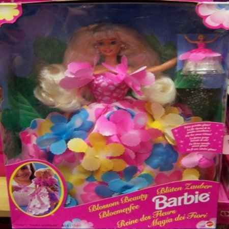 1996 - Mattel - Blossom Beauty Barbie - Dress Becomes a Floral Bouquet - Magical Sprinkles Glitter - w/ Magic Fairy - New - Out of Production - (Mattel Magic)