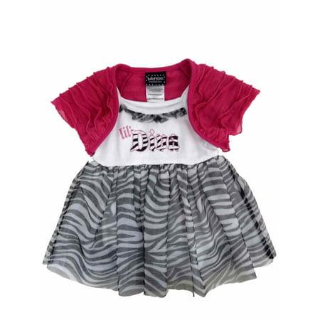 Baby Glam Infant Girl Lil Diva Creeper Tulle Skirt Dress Caplet 2 Piece Set - Diva Outfits