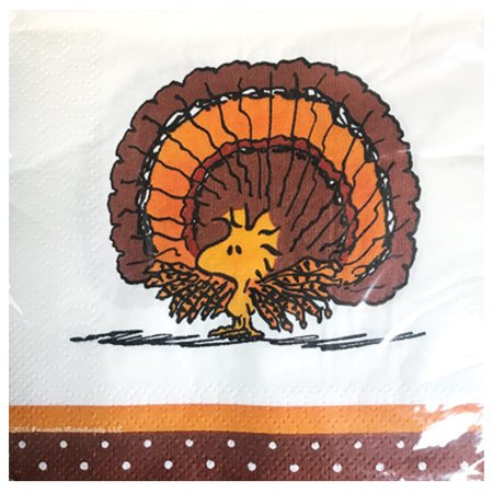 Peanuts Snoopy Thanksgiving Small Napkins (16ct) - Peanuts Thanksgiving
