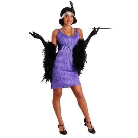 Fringe Flapper Dress (Plus Size Purple Fringe Flapper)
