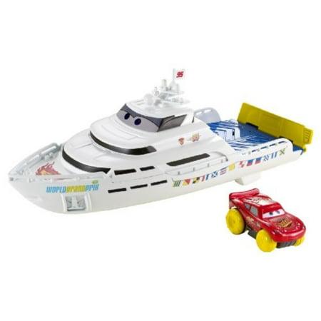 disney / pixar cars hydro wheels playset porto corsa splash 'n' race boat