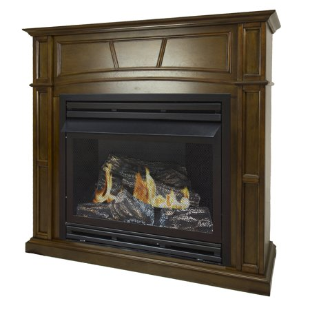 Pleasant Hearth 46 in. Natural Gas Full Size Heritage Vent Free Fireplace System 32,000 BTU