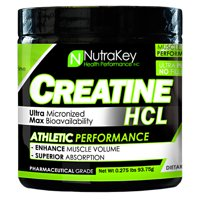 Nutrakey Creatine HCL Unflavored - 125 Scoops