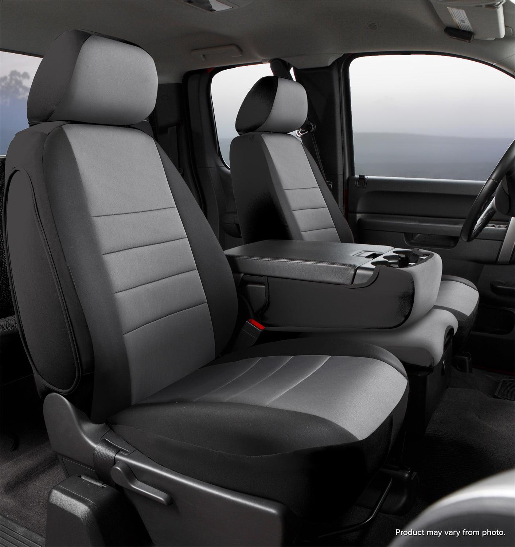 Neoprene Black w//Gray Center Panel FIA NP92-54 Gray Custom Fit Rear Seat Cover Split Seat 40//60