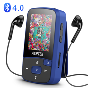 AGPTEK A50 8GB Bluetooth Clip Sport MP3 Player(up to 64GB),Lossless Sound Music Player with FM Radio Recording