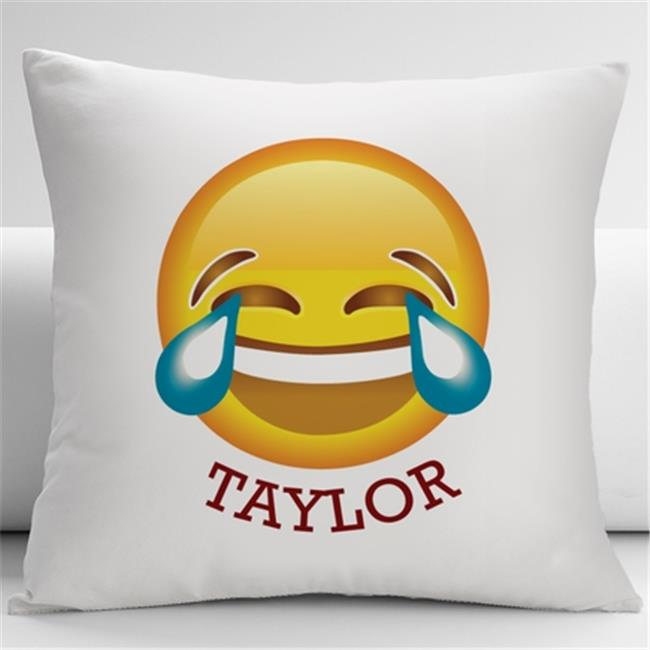 Monogramonline IN4312 Face With Tears of Joy Emoji Decorative Cushion Cover