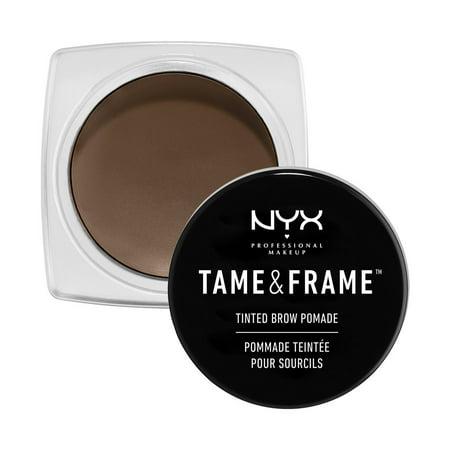 Brunette Brow Color - NYX Professional Makeup Tame & Frame Brow Pomade, Brunette