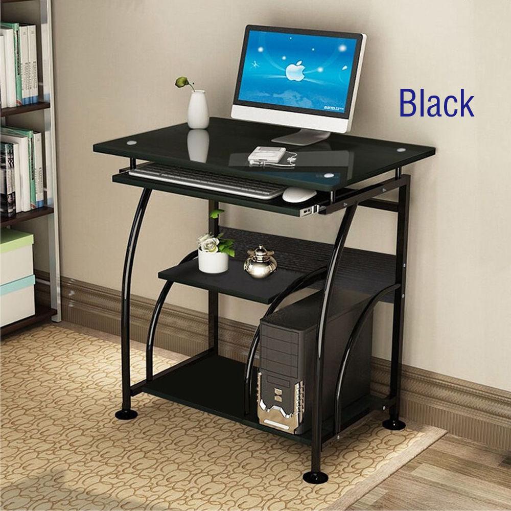 Bon Ktaxon Computer Desk Stand Table With Pullout Keyboard Tray Stalinite  Desktop