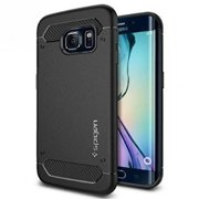 Galaxy S6 Edge Case, Spigen [Capsule Ultra Rugged] Resilient [Black] Ultimate protection from drops and impacts for Galaxy S6 Ed
