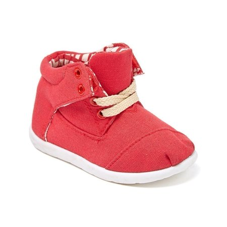 Girls Red Textile Upper Lace Up Mid-Top Casual Sneaker Shoes 11-4 Kids](Girls Red Sneakers)
