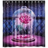 Ganma Beauty And The Beast Rose Shower Curtain Polyester Fabric Bathroom Shower Curtain 66x72 inches