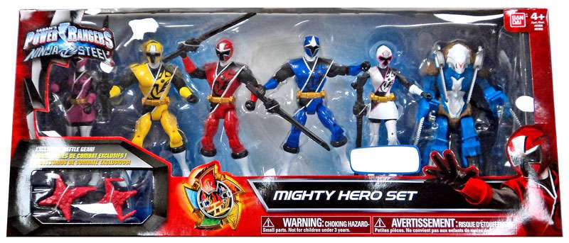 Power Rangers Ninja Steel Mighty Hero Set Action Figure 6-Pack by