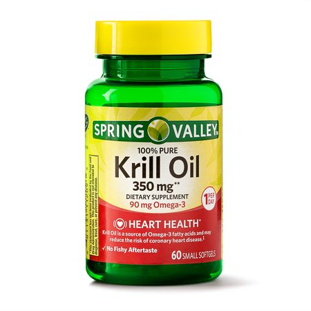 Spring Valley Krill 100% Pure Krill Oil Softgels 350 mg, 60