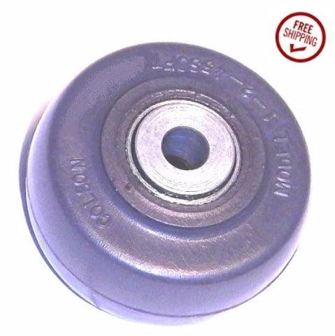 "Colson 2"" x 1"" Cushion Rubber Wheel with 5/16"" ID [1-2-45] Annular Bearing"