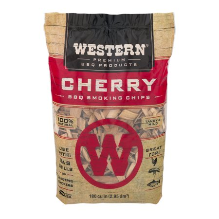 Western Premium BBQ Products Cherry BBQ Smoking Chips, 180 cu