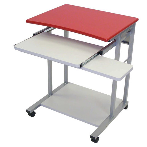 LUXOR Endura Computer Cart 2 Shelf and Tray Black