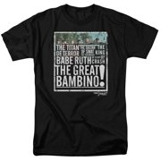 Sandlot The Great Bambino Mens Short Sleeve Shirt