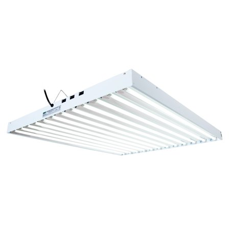 Agrobrite T5 648W 4 Foot 12 Tube Hanging Grow Light Fixture w ...