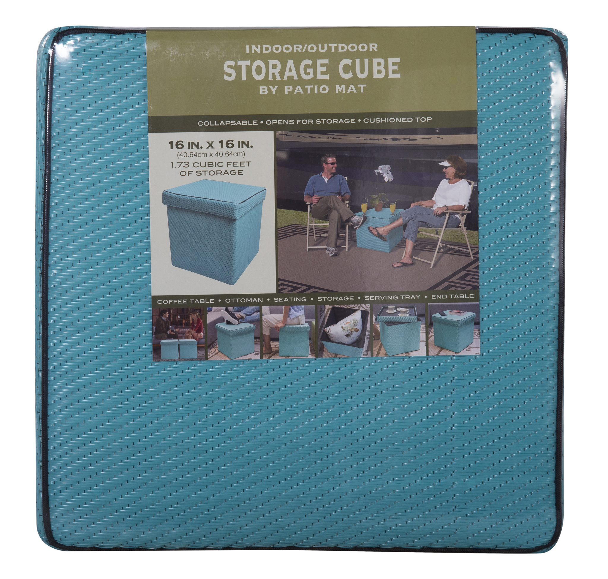 Storage Cube By Patio Mat, Indoor / Outdoor For RV, Patio, Home,  Collapsible U0026 Multi Use   Walmart.com