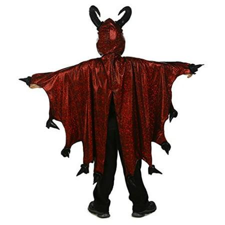 Princess Paradise Boy's Diablo Cape, Black/Red, Small/Medium - Diablo Halloween