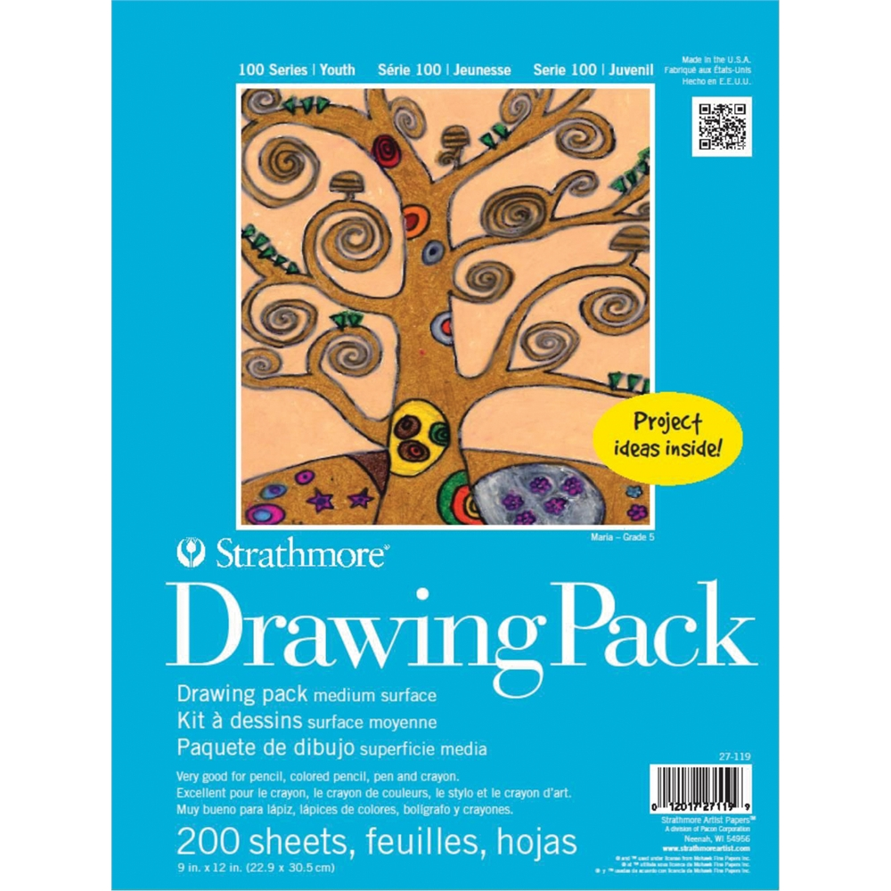 "Strathmore 100 Series 9"" x 12"" Drawing Paper Sheet Stock"