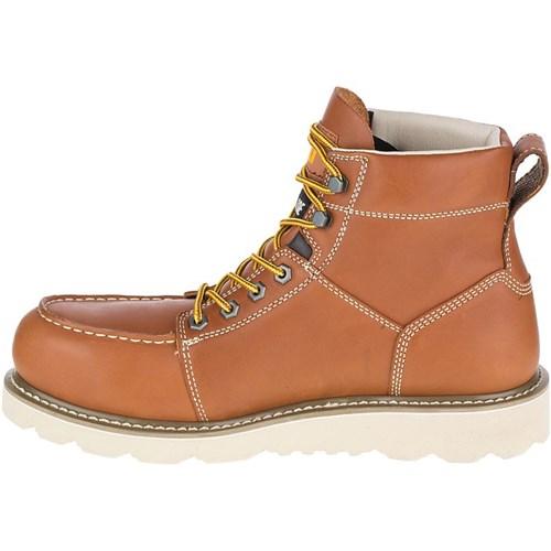 """CAT Footwear Tradesman Tradesman Footwear Steel Toe - Brown 8.5(M) Work Boot"" 185b14"