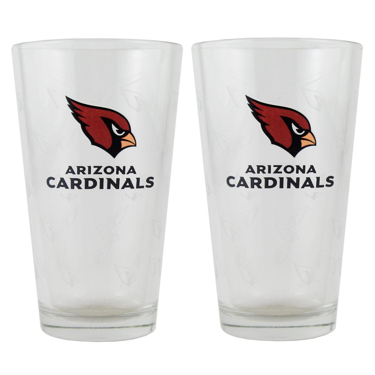 Boelter Pint Glass 2-Pack Arizona Cardinals Arizona Cardinals BOFBARIPI by Boelter Brands