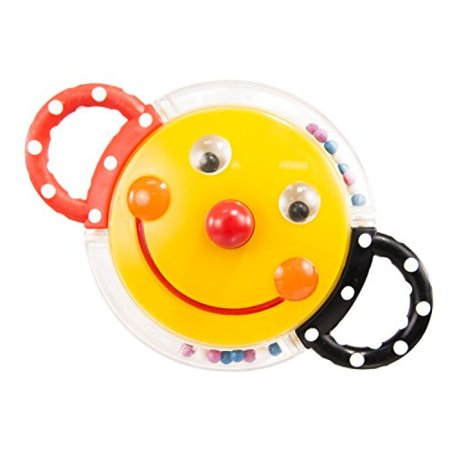 Sassy Rattle with Mirror, Smiley - Rattle Mirror