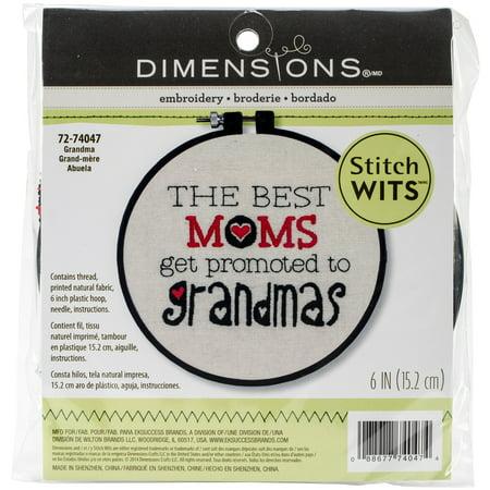 Stitch Wits Grandma Wit Mini Stamped Embroidery Kit, 6