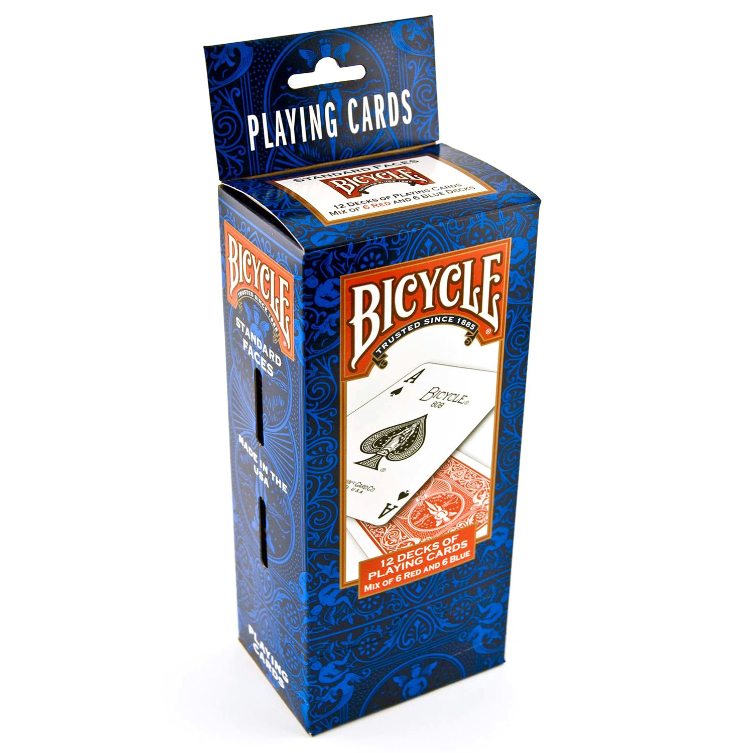 Bicycle Poker Size Standard Index Playing Cards, 12 Deck Player's Pack