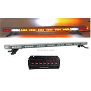 "50"" Amber LED Emergency Light Bar Flashing Tow/Plow Truck Wrecker w/ TAKE DOWN & CARGO & BRAKE LIGHTS"