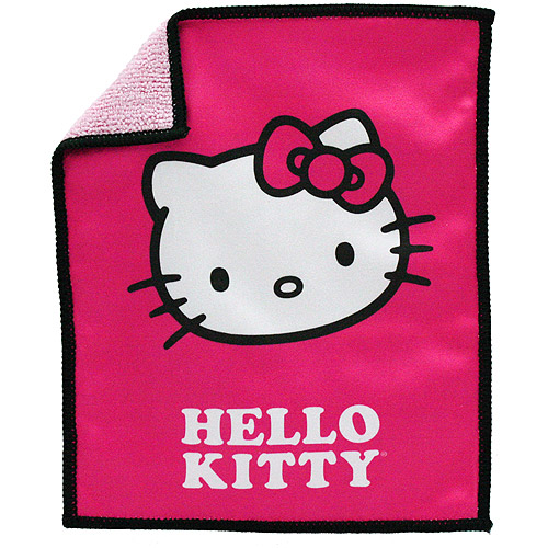 HELLO KITTY 902930 Dual Sided Cleaning Cloth (7 Inch. x 9 Inch.)