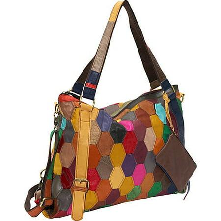 Amerileather Tote - Amerileather  'Miya' Leather Tote Bag
