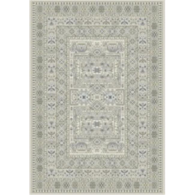 Ancient Garden Rugs, Silver & Grey - 9.2 x 12.10 in.