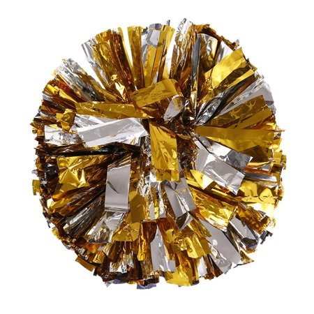 Pom Poms Cheerleading (Metallic Foil And Plastic Ring Handheld Pom Poms Cheerleading Party)