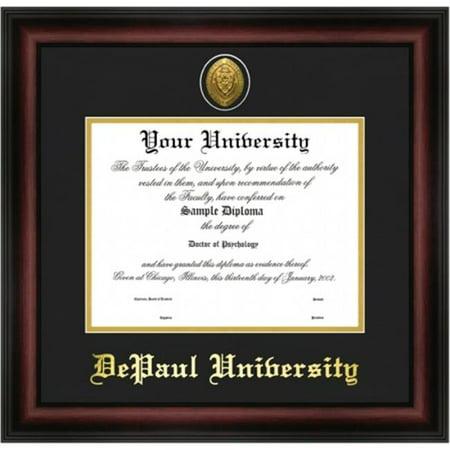 depaul university gold embossed diploma frame - Diploma Frames Walmart