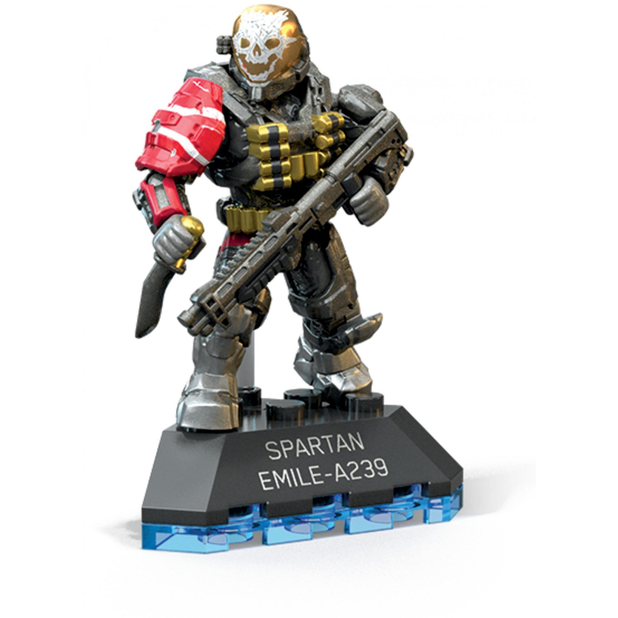 Mega Construx Halo Heroes Spartan Emile Micro Action Figure Walmart Com Walmart Com